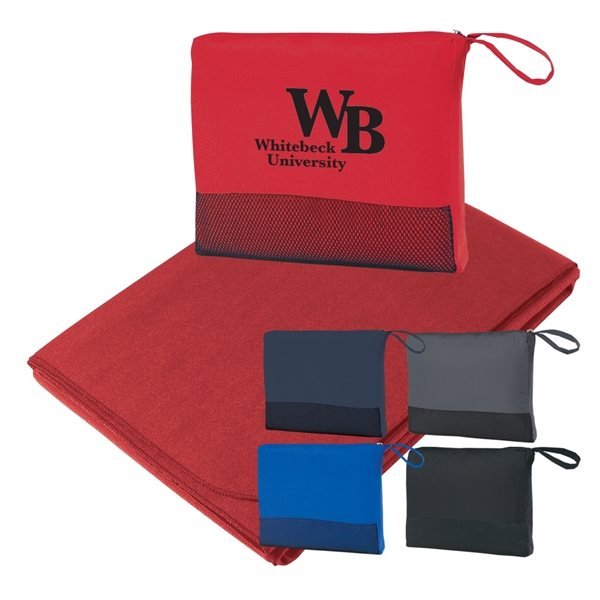 Promotional 100 Polyester Travel Blanket