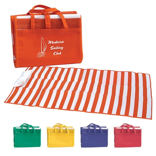 Promotional Beach Mat with Inflatable Pillow