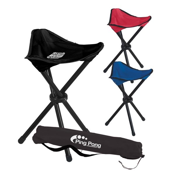 Promotional Folding Tripod Stool With Carrying Bag