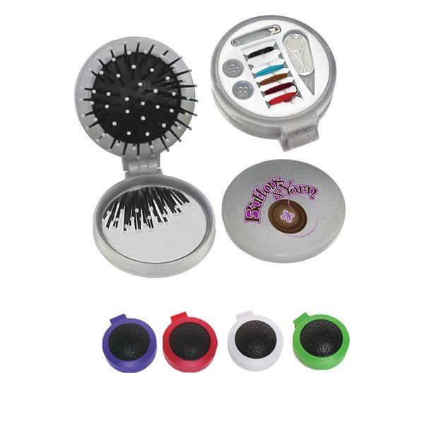 Promotional 3- In -1 Brush With Sewing Kit