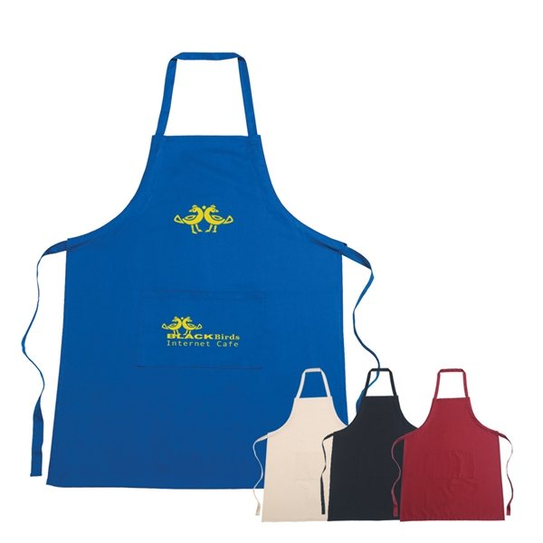 Promotional 100 Cotton Apron with Large Front Pocket