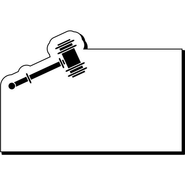 Promotional 2 x 3 Gavel NoteKeeper(TM) Magnet