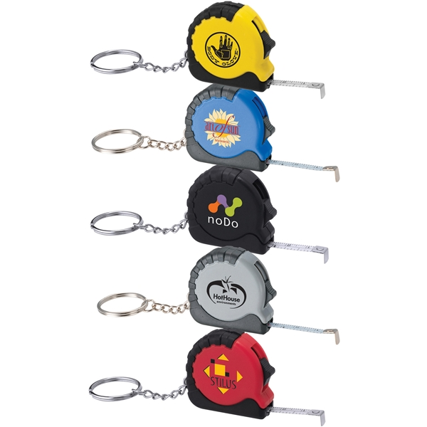 Promotional Pocket Pro Mini Tape Measure / Key Chain