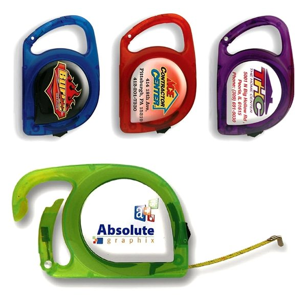 Promotional Tape Measure with carabiner