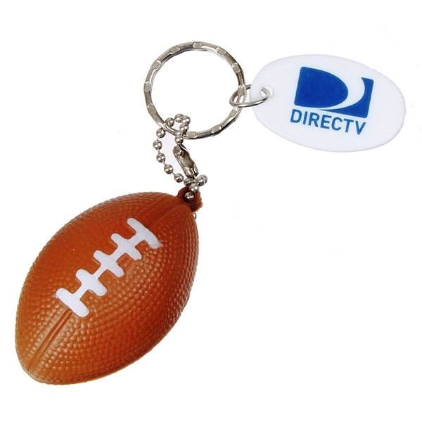 Promotional Touchdown Football Plastic Keychain