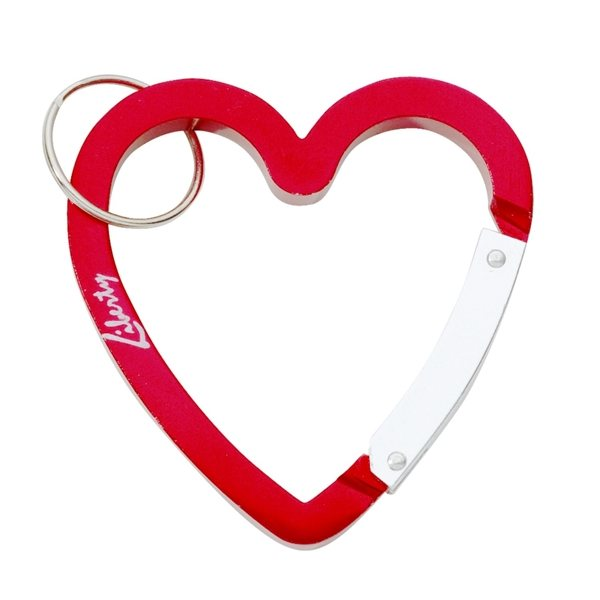 Promotional Anodized Aluminum Heart Carabiner