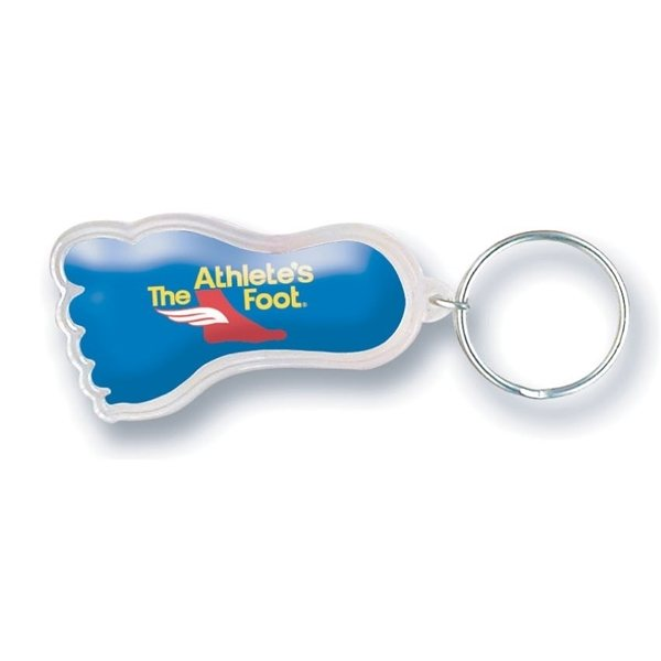 Promotional Clear Foot Shaped Acrylic Keychain