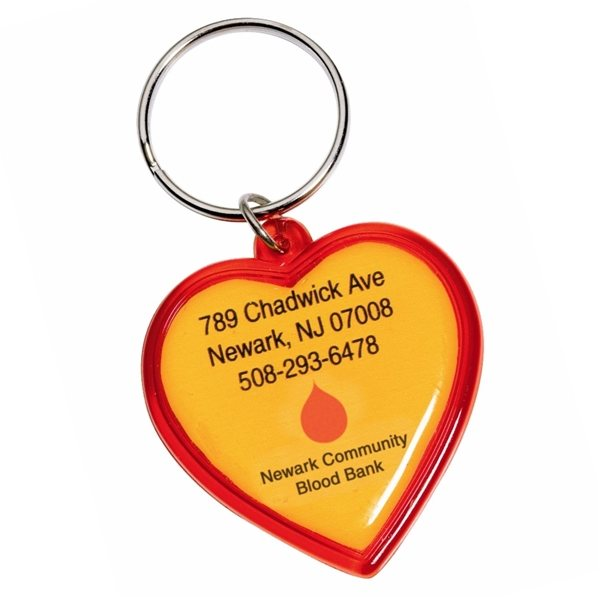 Promotional Get to the Heart of the Matter Heart Shaped Keychain