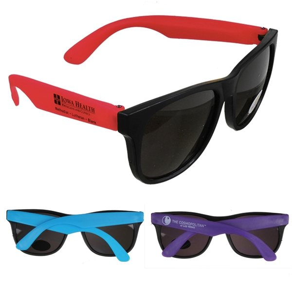 Promotional Neon UVA UVB Protection Sunglasses With Multiple Color Choices