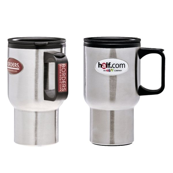 Promotional 16 oz Double Walled Stainless Steel Travel Mug