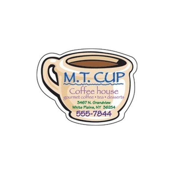 Promotional Coffee Cup - Die Cut Magnets