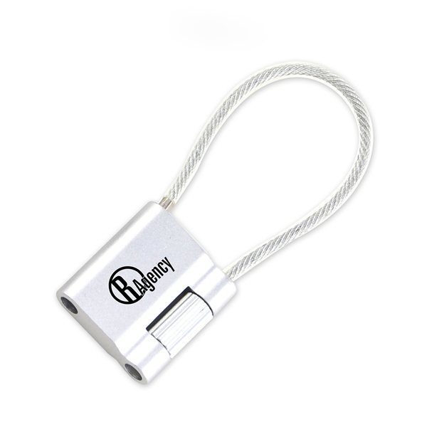 Promotional MoMA Aluminum Cable Keychain (Silver)