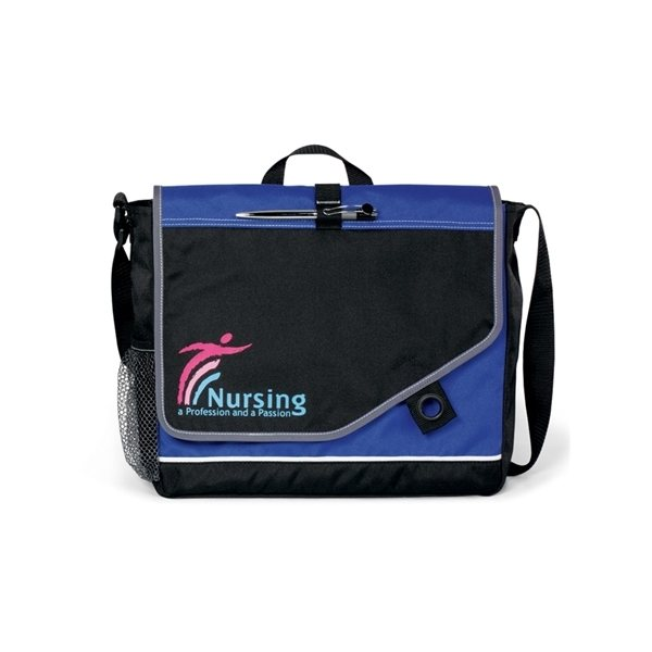 Promotional Polyester Attune Velcro Closure Messenger Bag 13.5 X 11.5
