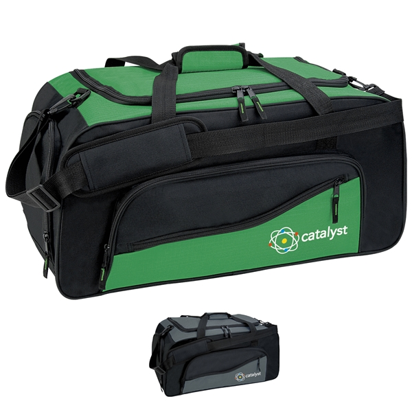 Promotional 600D Polyester Montana Duffel with PVC Backing