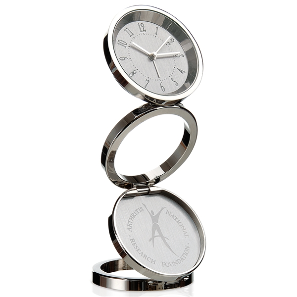 Promotional JAFFA Collection Momentum Chrome - Plated Zinc Clock