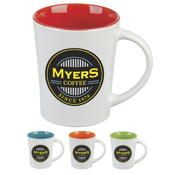 Promotional 14 oz Ceramic Two Tone Citrus Mug