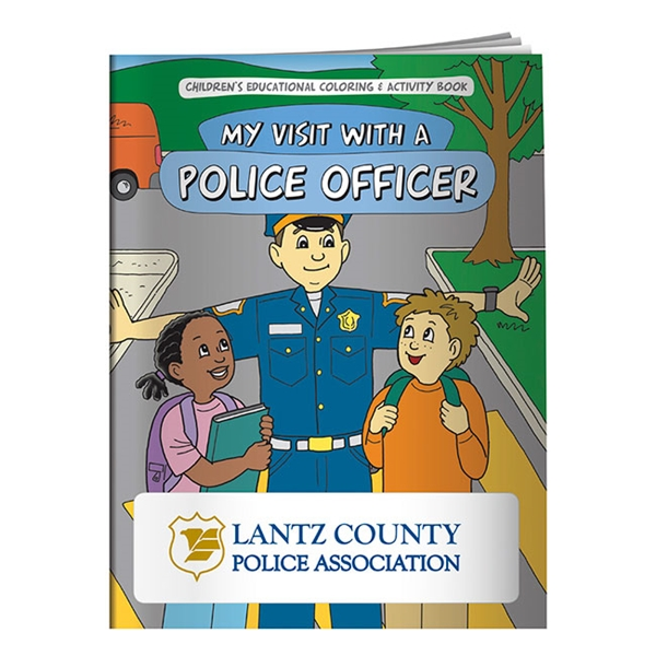 Promotional Coloring Book My Visit with a Police Officer
