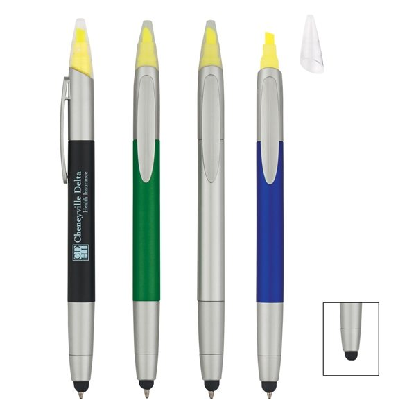Promotional 3- In -1 Pen / Highlighter / Stylus