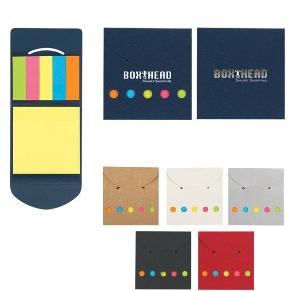 Promotional Sticky Notes Flags In Pocket Case