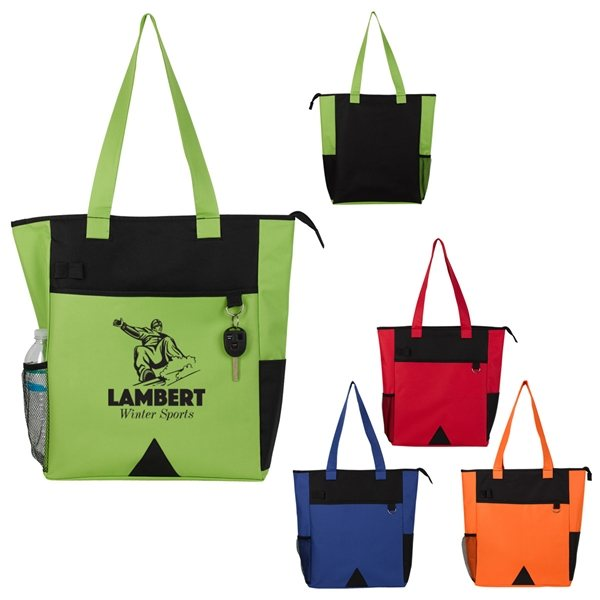 Promotional 600D Polyester Pyramid Tote Bag