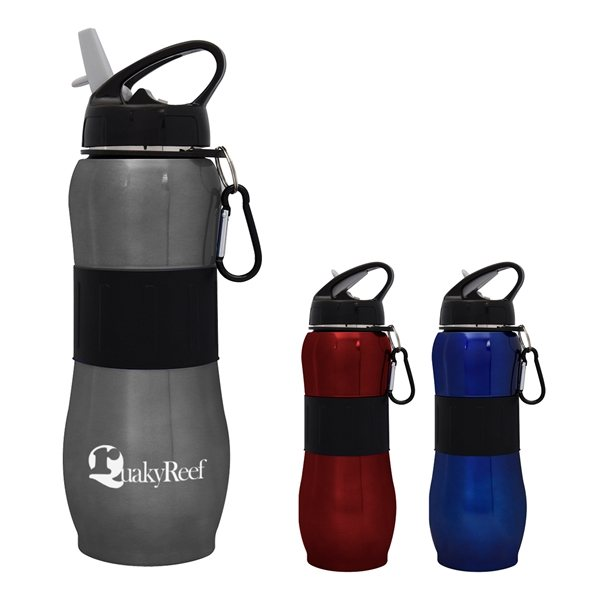 Promotional 28 oz Stainless Steel Sport Grip Bottle