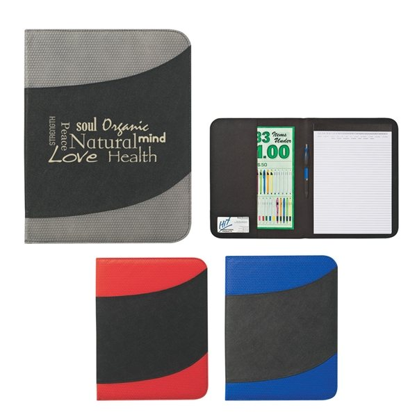 Promotional Non - Woven 8 X 11 Bubble Padfolio