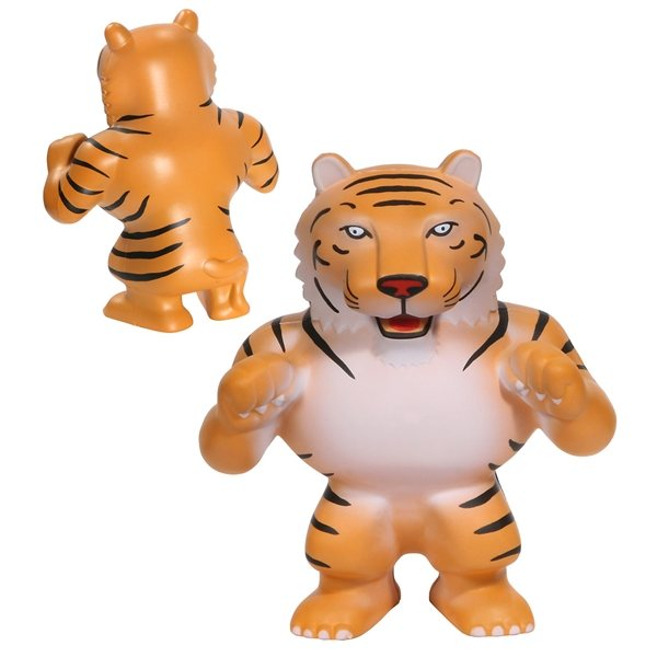 Promotional Tiger Mascot Shaped Stress Reliever