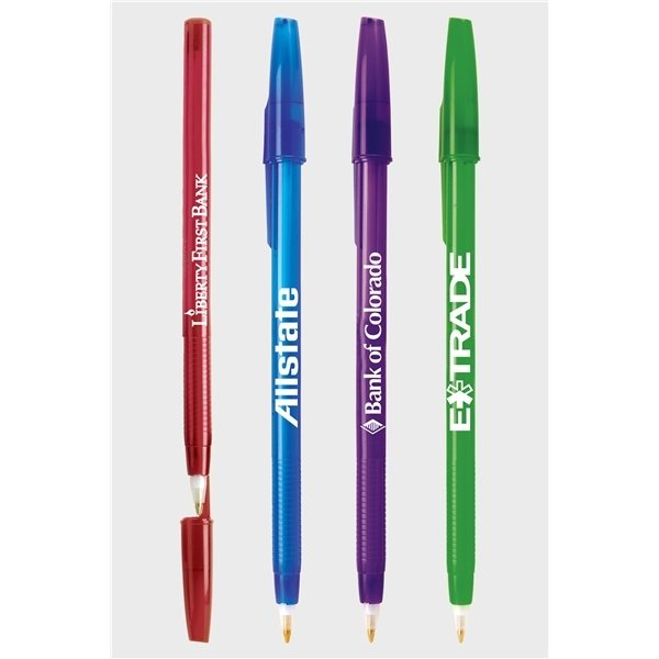 Promotional Translucent Stick - Pen Black Ink