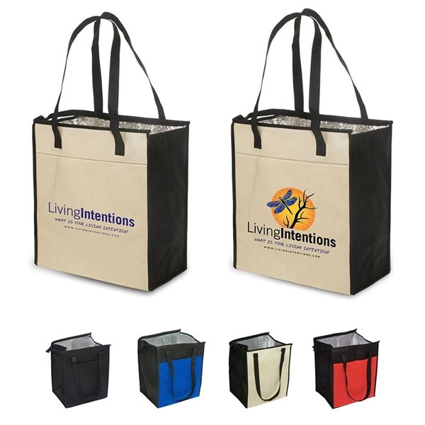 Promotional Insulated Grocery Tote - 80gsm