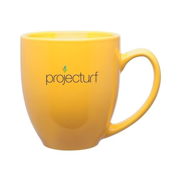 Promotional 15 oz Bistro Mug - yellow