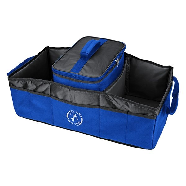 Promotional Polyester 2- In -2 Trunk Organizer Cooler 12 X 10