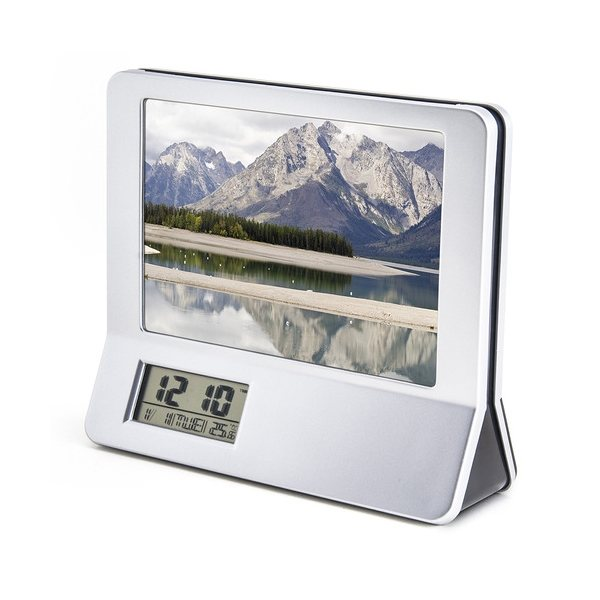 Promotional 3- In -1 Calculator Picture Frame LCD Digital Clock