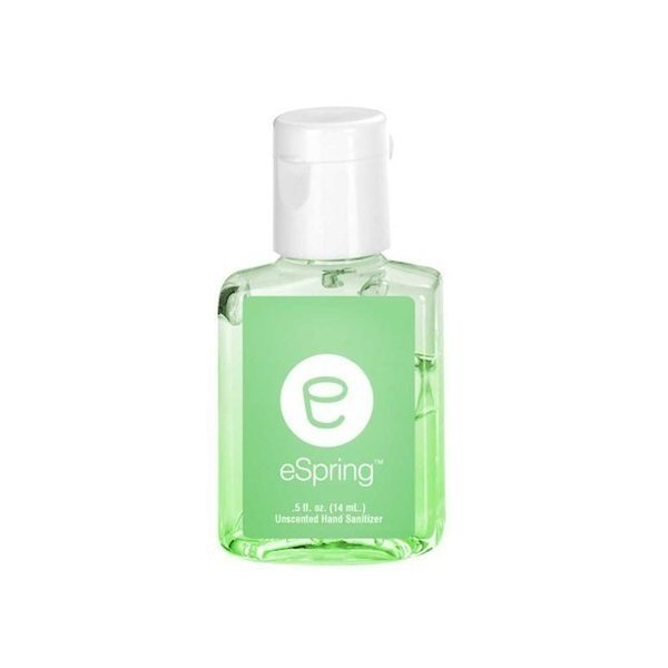 Promotional 0.5 oz Tinted Sanitizer in Clear Bottle