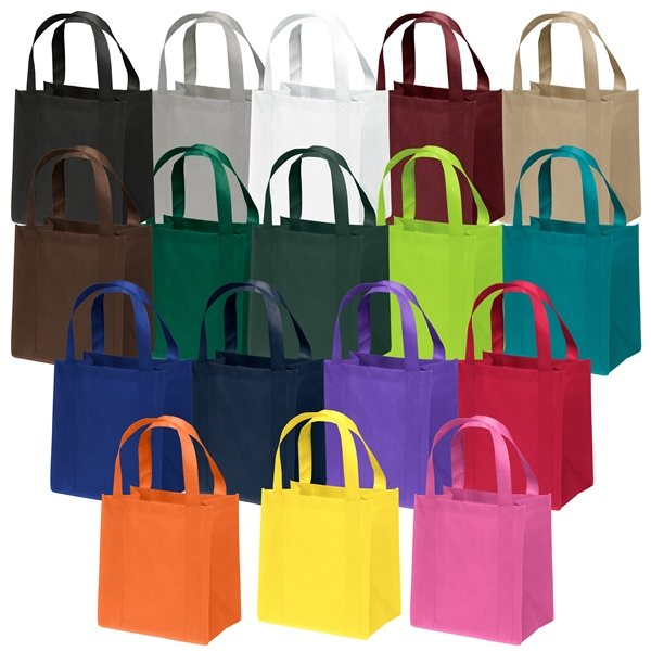 Promotional Non Woven Screen Print Multi Color Little Thunder Tote Bag 12 X 13