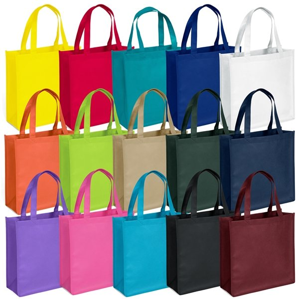 Promotional The Abe Non - Woven Screen Print Tote Bag - 13 x 13