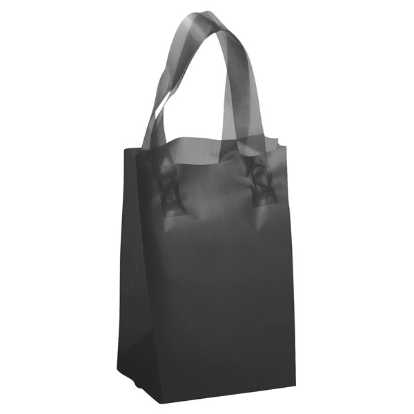 Promotional Thor Frosted Plastic Flexo Ink Tote Bag - 5 x 8