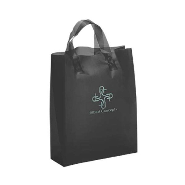 Promotional Lily Frosted Plastic Flexo Ink Tote Bag - 8 x 10