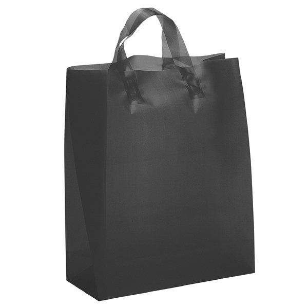 Promotional Iris Frosted Plastic Flexo Ink Tote Bag - 13 x 17