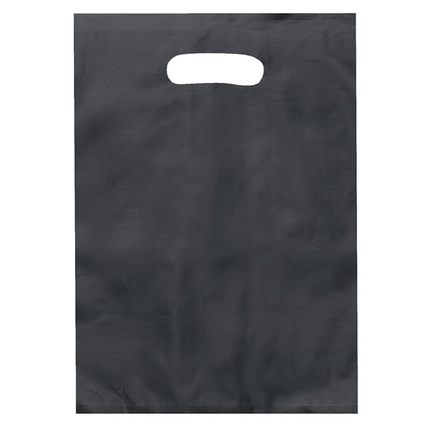 Promotional Frosted Plastic Flexo Ink Multi Color Die Cut Aster Handle Bag 9.5 X 14