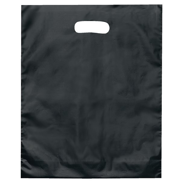 Promotional Colored Frosted Die - Cut Convention Bag 15 x 12