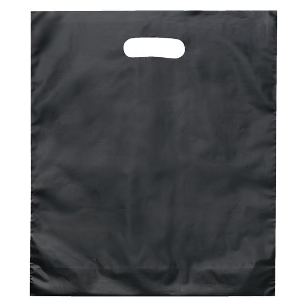 Promotional Rose Frosted Plastic Flexo Ink Die Cut Tote Bag - 15 x 18