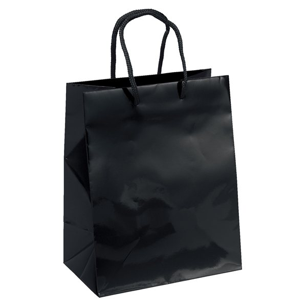 Promotional Gloss Paper Foil Hot Stamp Multi Color Crystal Tote Bag 7.75 X 9.75