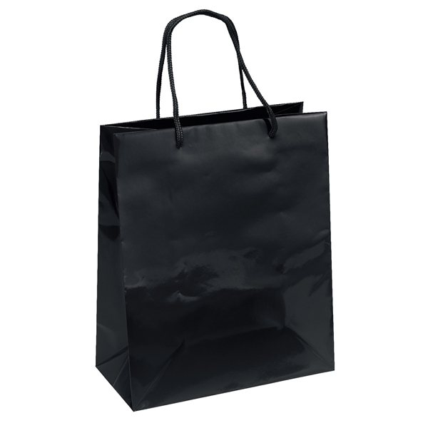 Promotional Gloss Paper Foil Hot Stamp Multi Color Emerald Tote Bag 10 X 12