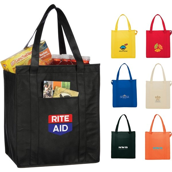 Promotional The Hercules Non - Woven Insulated Grocery Tote - 13 x 15
