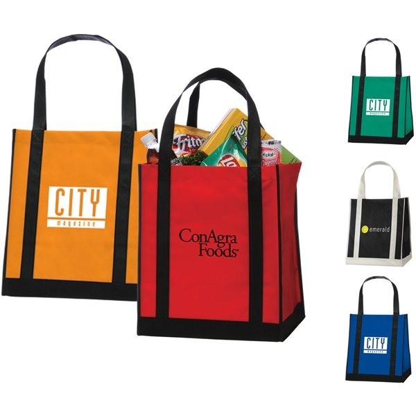Promotional Apollo Non - Woven Grocery Tote