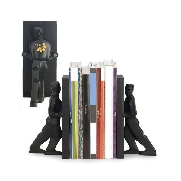 Promotional Kikkerland Pushing Men Bookends