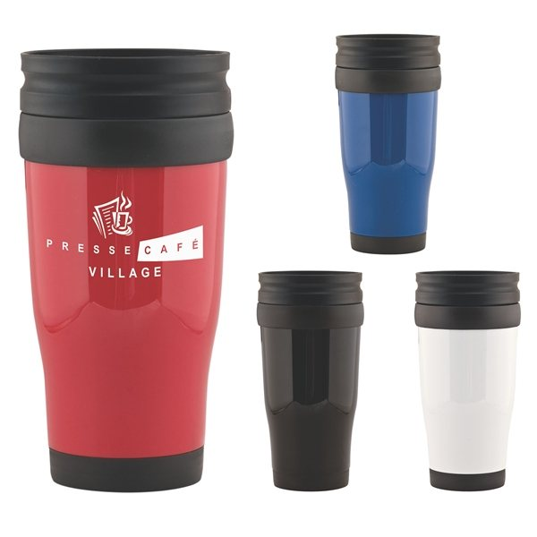Promotional 16 oz Cafe Double Walled Tumbler