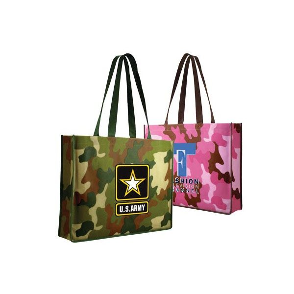 Promotional Non - Woven Camo Tote Bag, Full Color Digital
