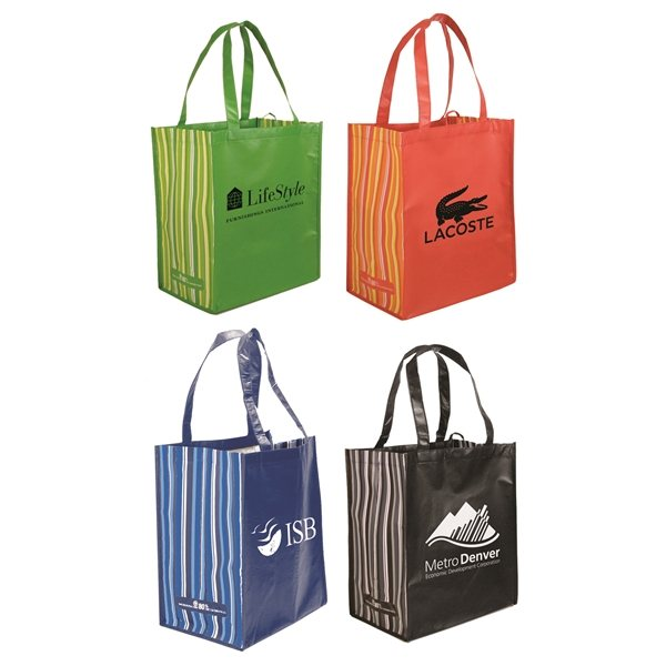 Promotional RPET Striped Tote Bag