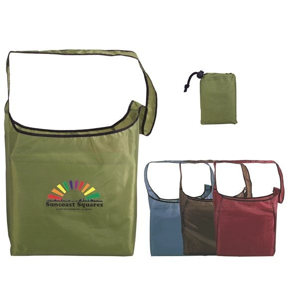 Promotional RPET Fold - Away Sling Bag, Full Color Digital